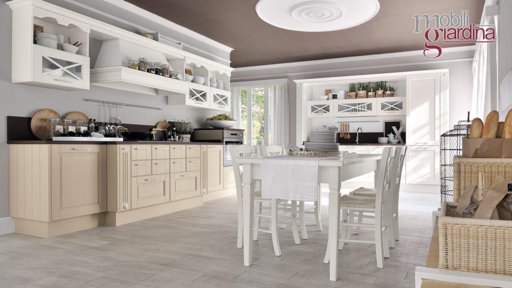 cucina agnese con sportelli in legno chiaro