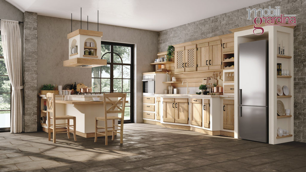 cucina anita legno vecchio stile
