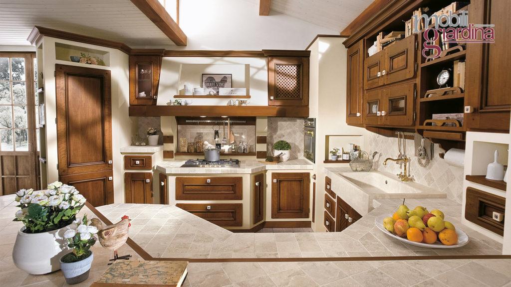 cucina beatrice con penisola in marmo