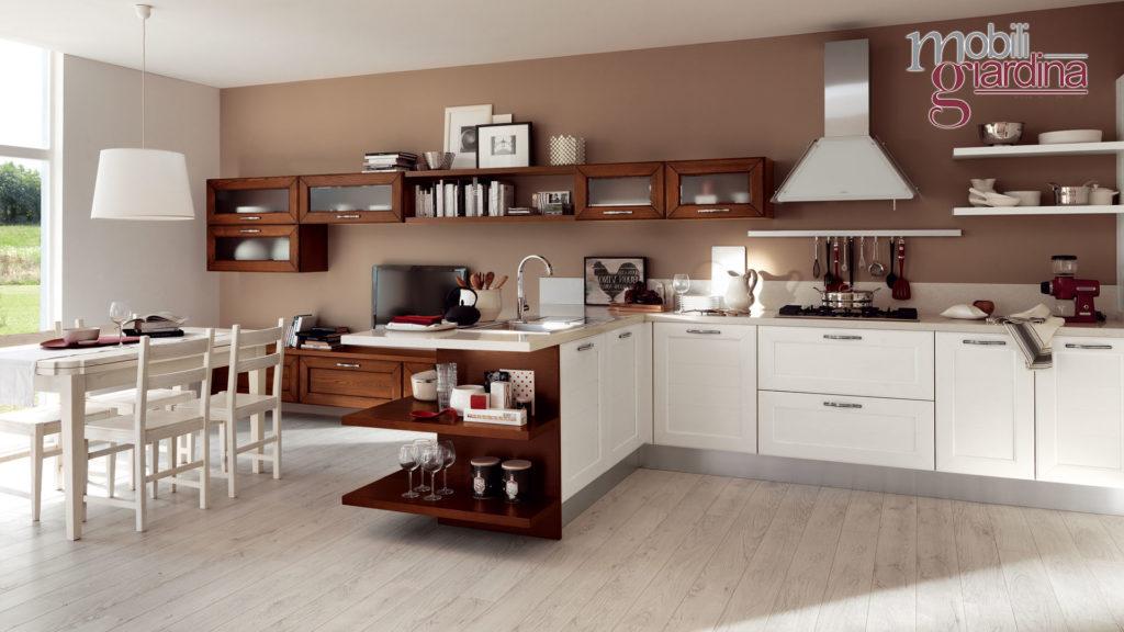 cucina claudia in legno marrone scuro