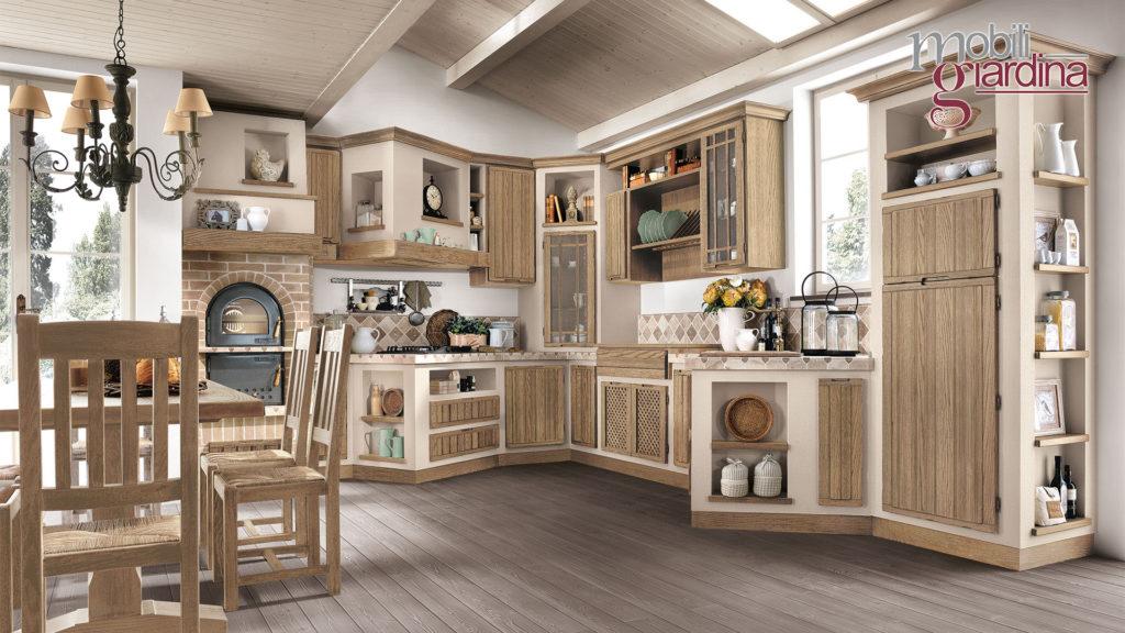 cucina elena con sportelli in legno