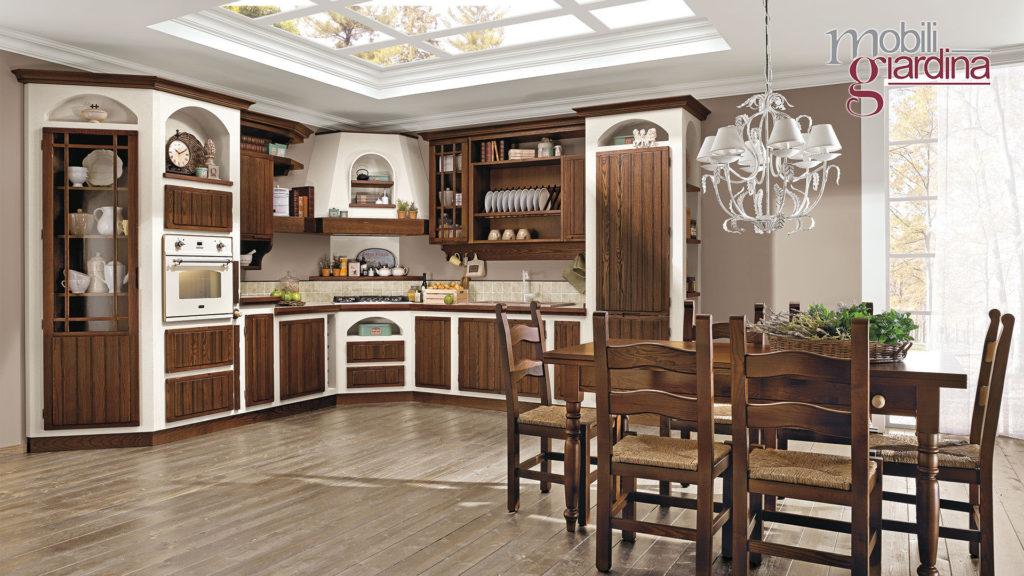 cucina elena in legno scuro