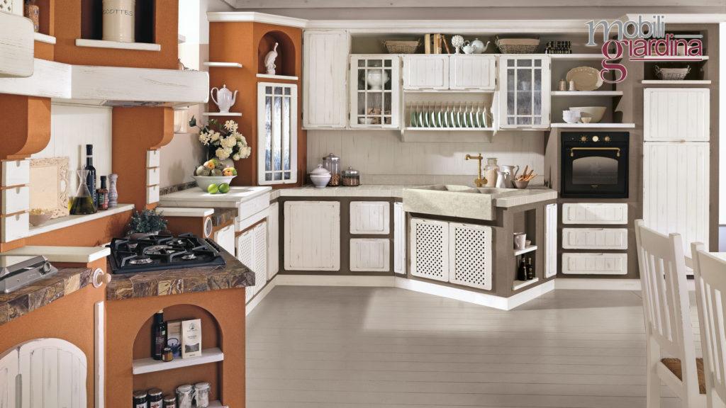 cucina elena in marrone e bianco