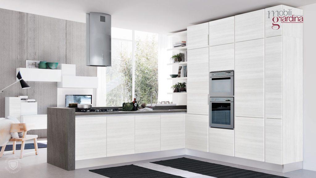 cucina essenza in legno bianco