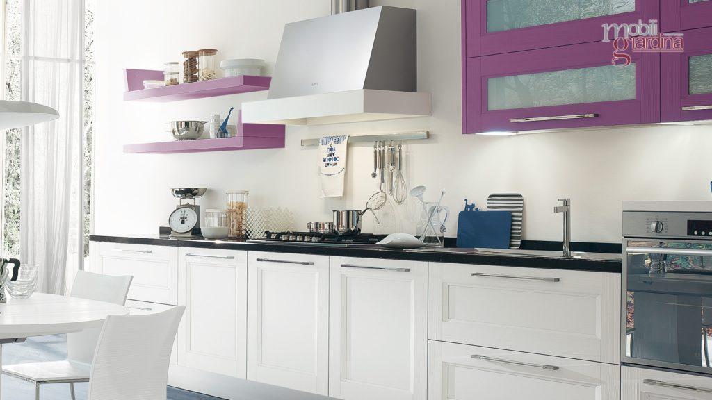cucina georgia bianca e viola