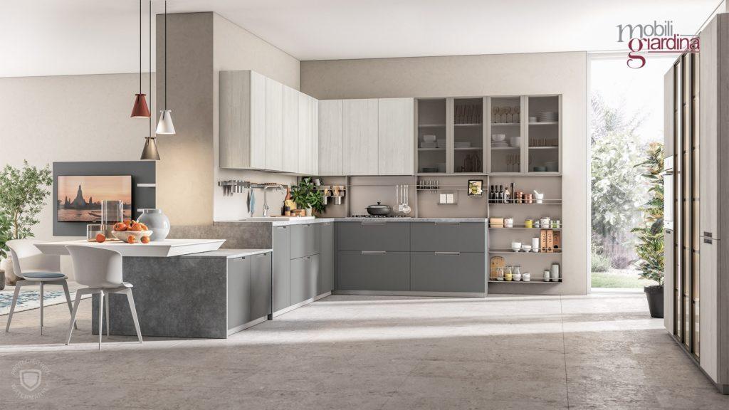 cucina immaginaplus in grigio chiaro