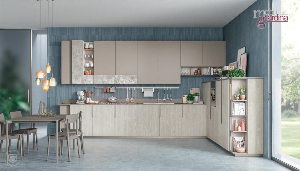 cucina immaginaplus in legno chiaro