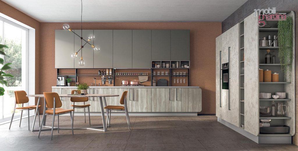 cucina immaginaplus in legno grigio