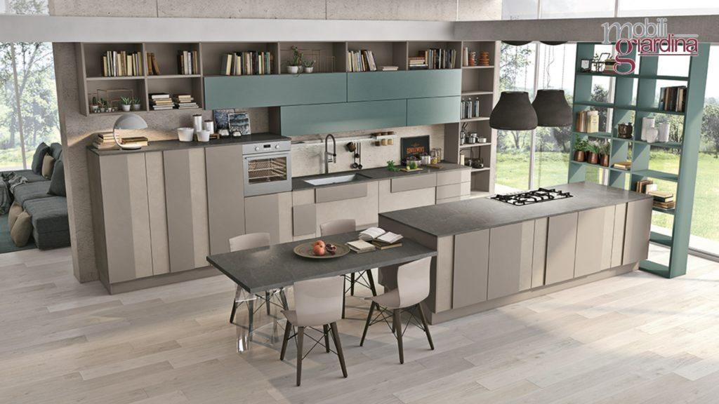 cucina in grigio penisola