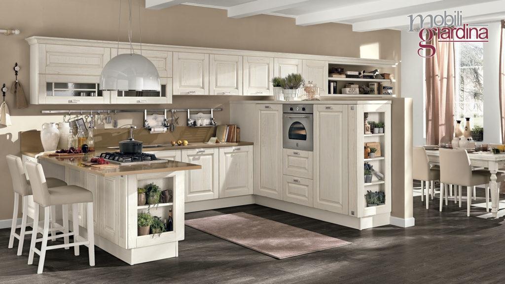 cucina laura in legno bianco