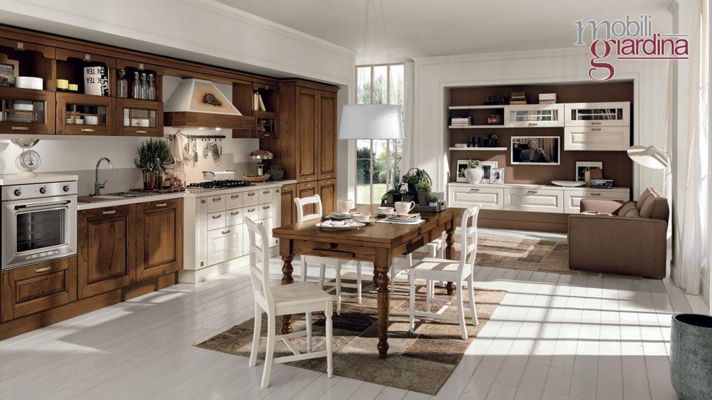 cucina laura in legno bianco e marrone