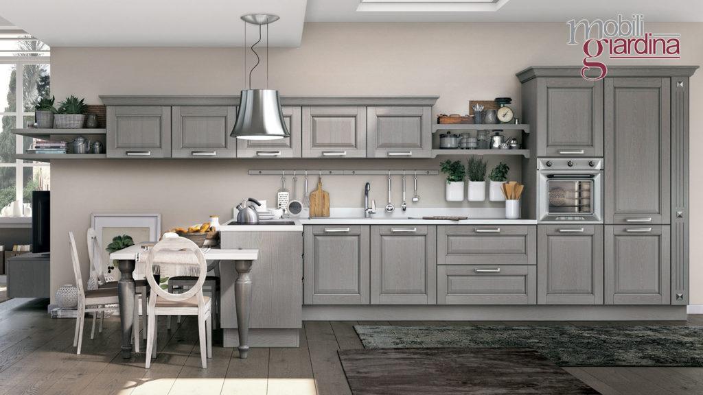 cucina laura in legno grigio