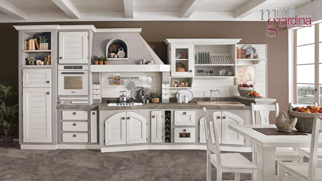 cucina luisa con sportelli bianchi