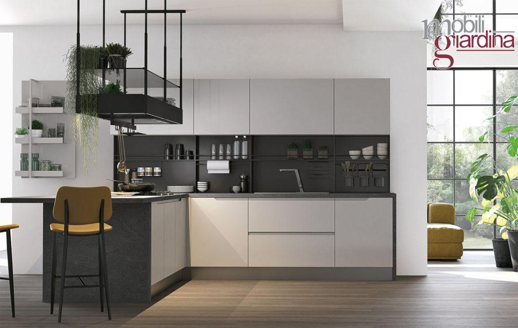 cucina luna grigio vista frontale