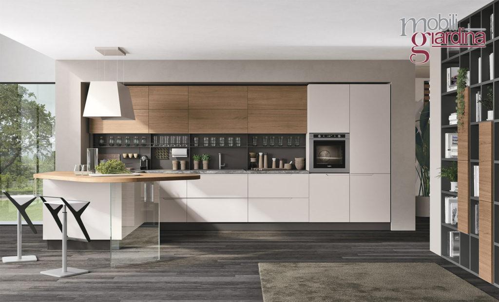 cucina lunacon sportelli in legno