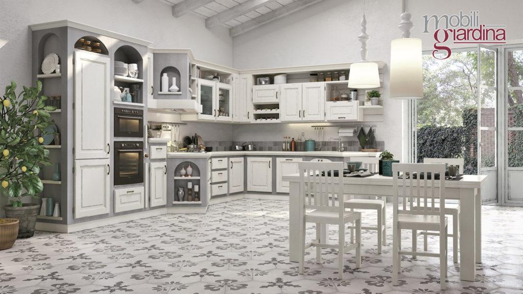 cucina onelia con sportelli bianchi