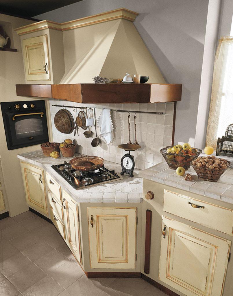 cucina onelia con sportelli in legno chiaro