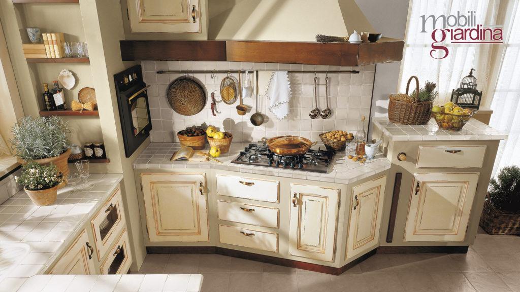 cucina onelia piano con mattonelle grigie