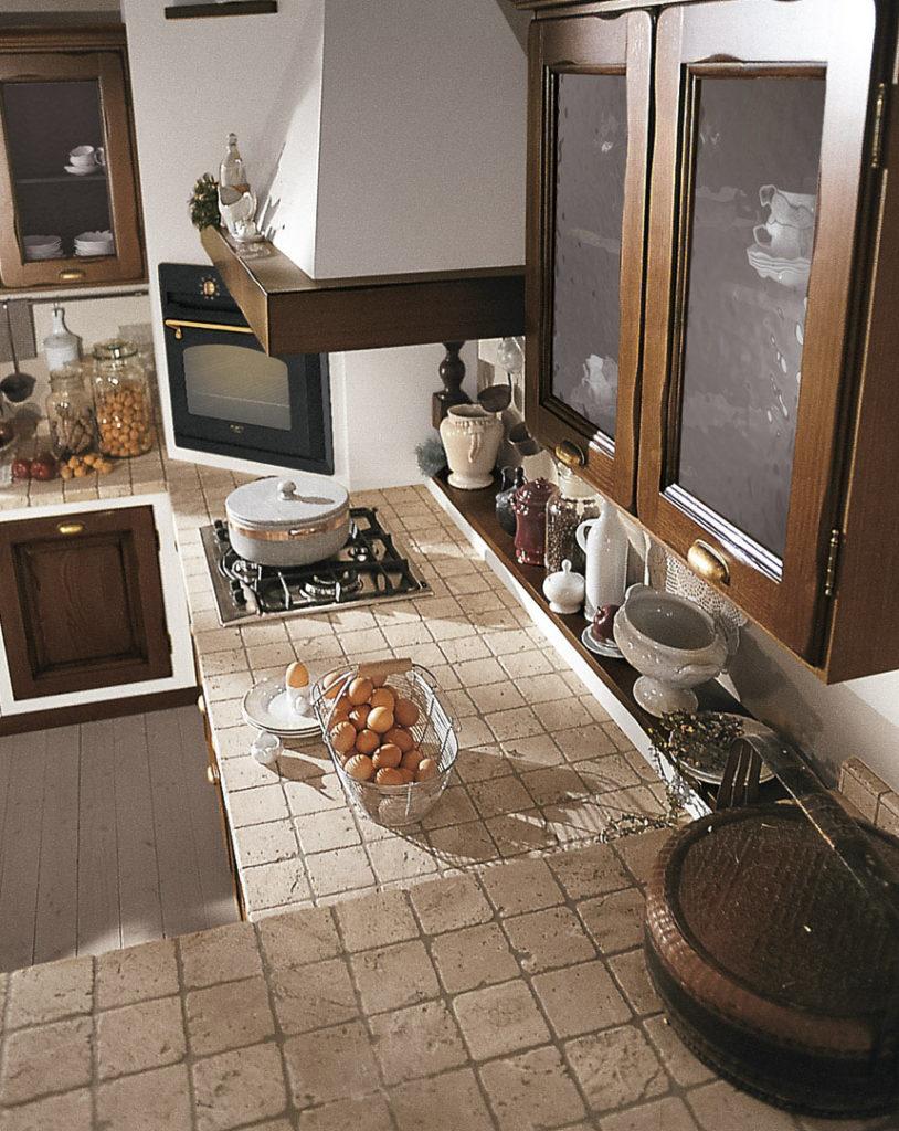cucina onelia piano in mattonelle