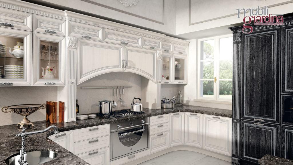 cucina pantheon in lengo bianco