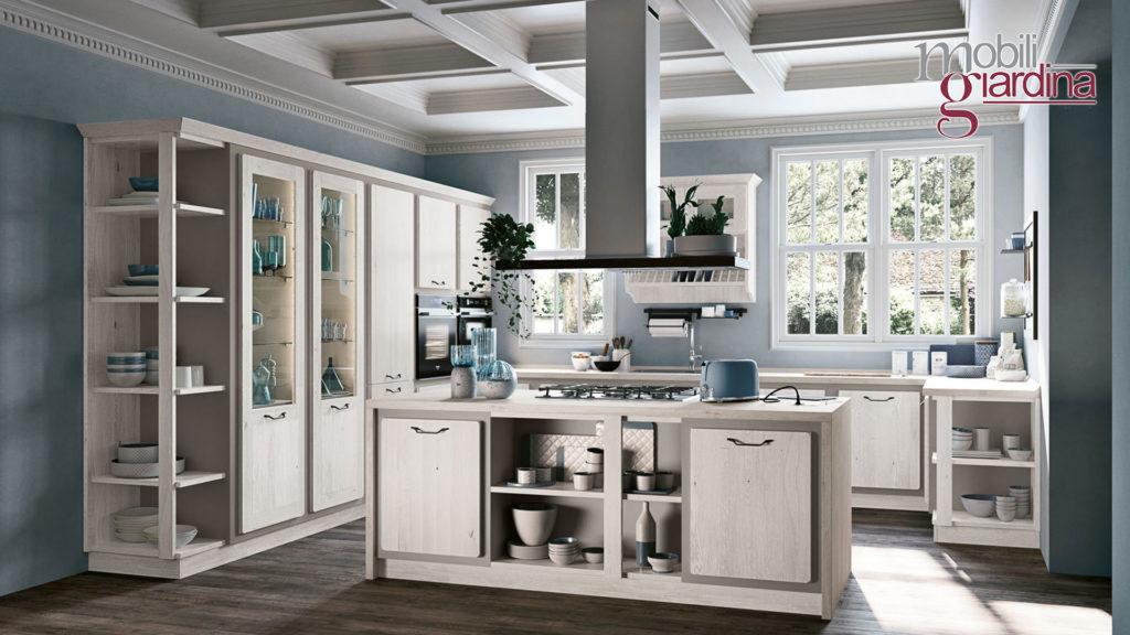 cucina rebecca in legno chiaro