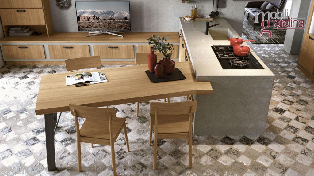 cucina rebecca tavolo e penisola
