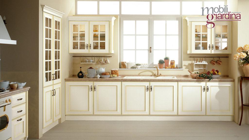 cucina velia laccata con marmo