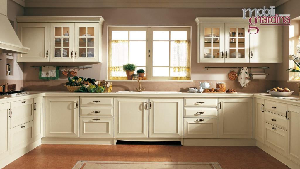 cucina velia laccata con sportelli bianchi