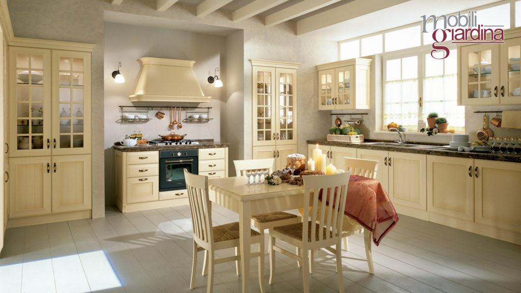 cucina velia laccata in legno chiaro