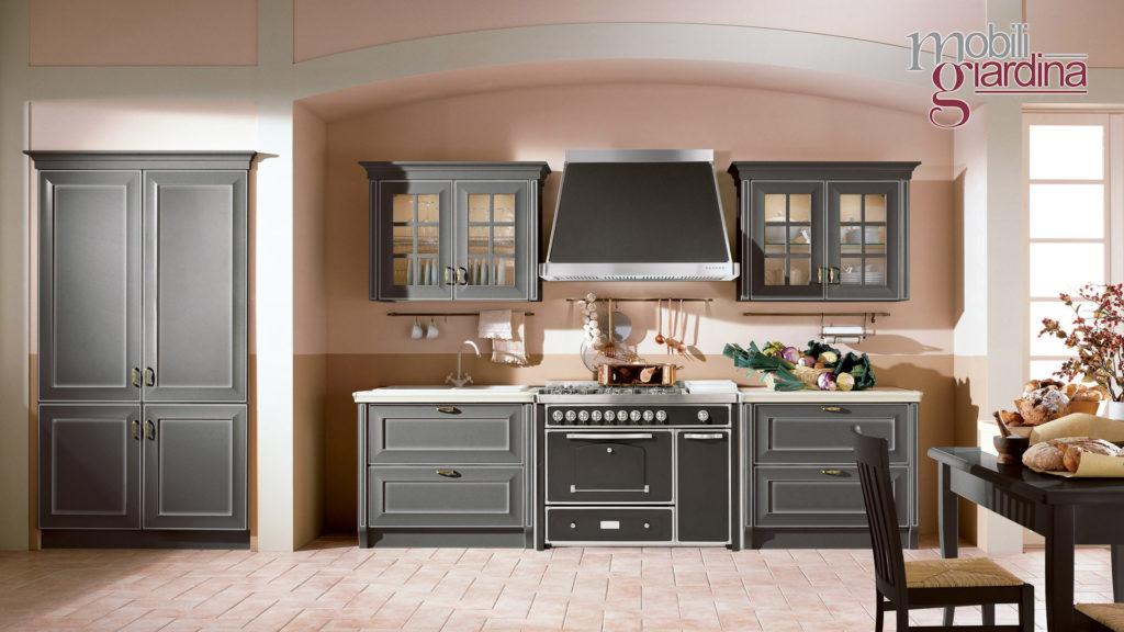 cucina velia laccata in lengo nero