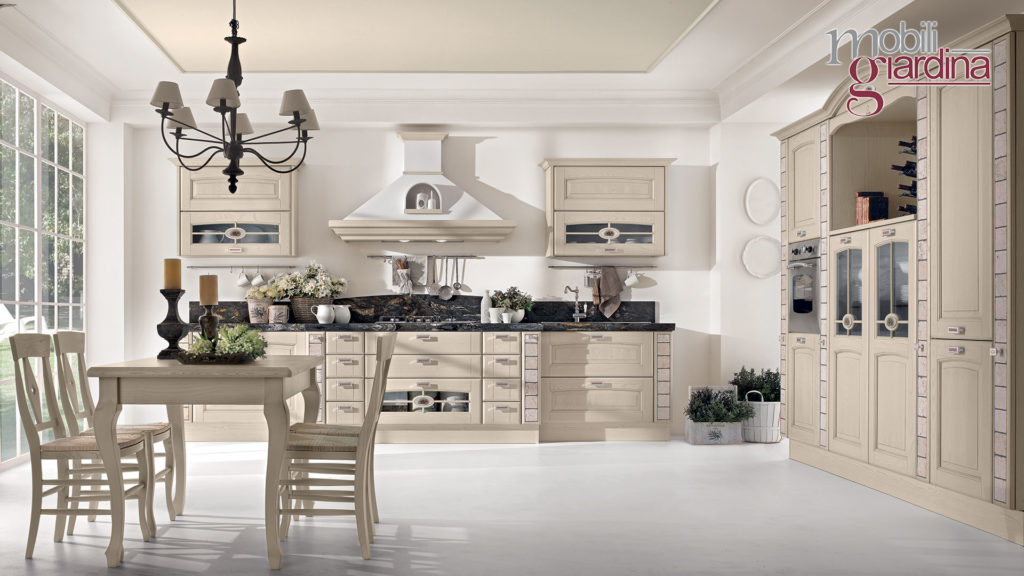 cucina veronica con marmo nero