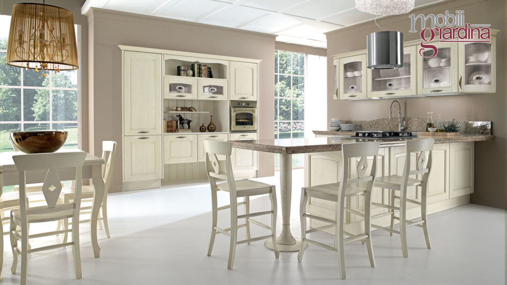 cucina veronica con piano in marmo