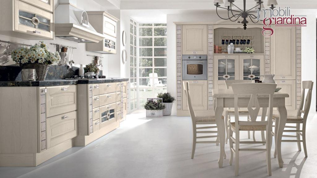 cucina veronica con sportelli in legno chiaro
